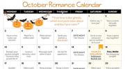 2016 October Romance Calendar