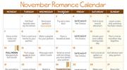 2016 November Romance Calendar
